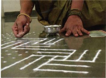 ©2008, Ketki Dhanesha, Shashikala Sathyamurthy, Samir Bellare, and Pallavi Naik, Kolam