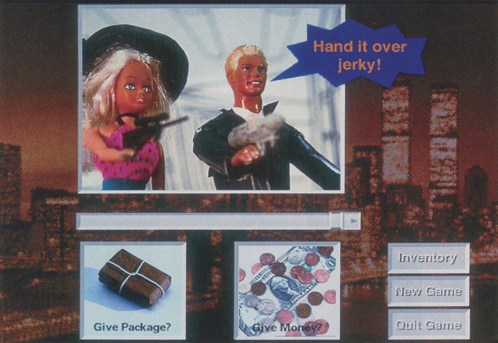©1993, Kim Bauer, Michael DiComo, Daniel Leung, and Jacquelyn Martino, Don't Drop the Package