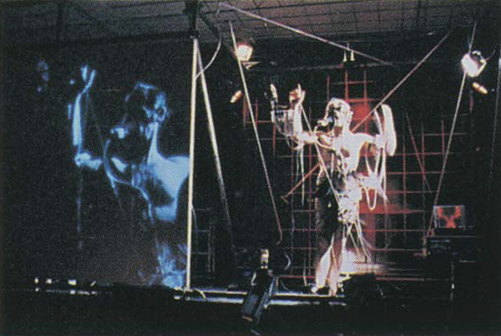 ©, Stelarc, Performance for Amplified Body with Third Arm and Robot