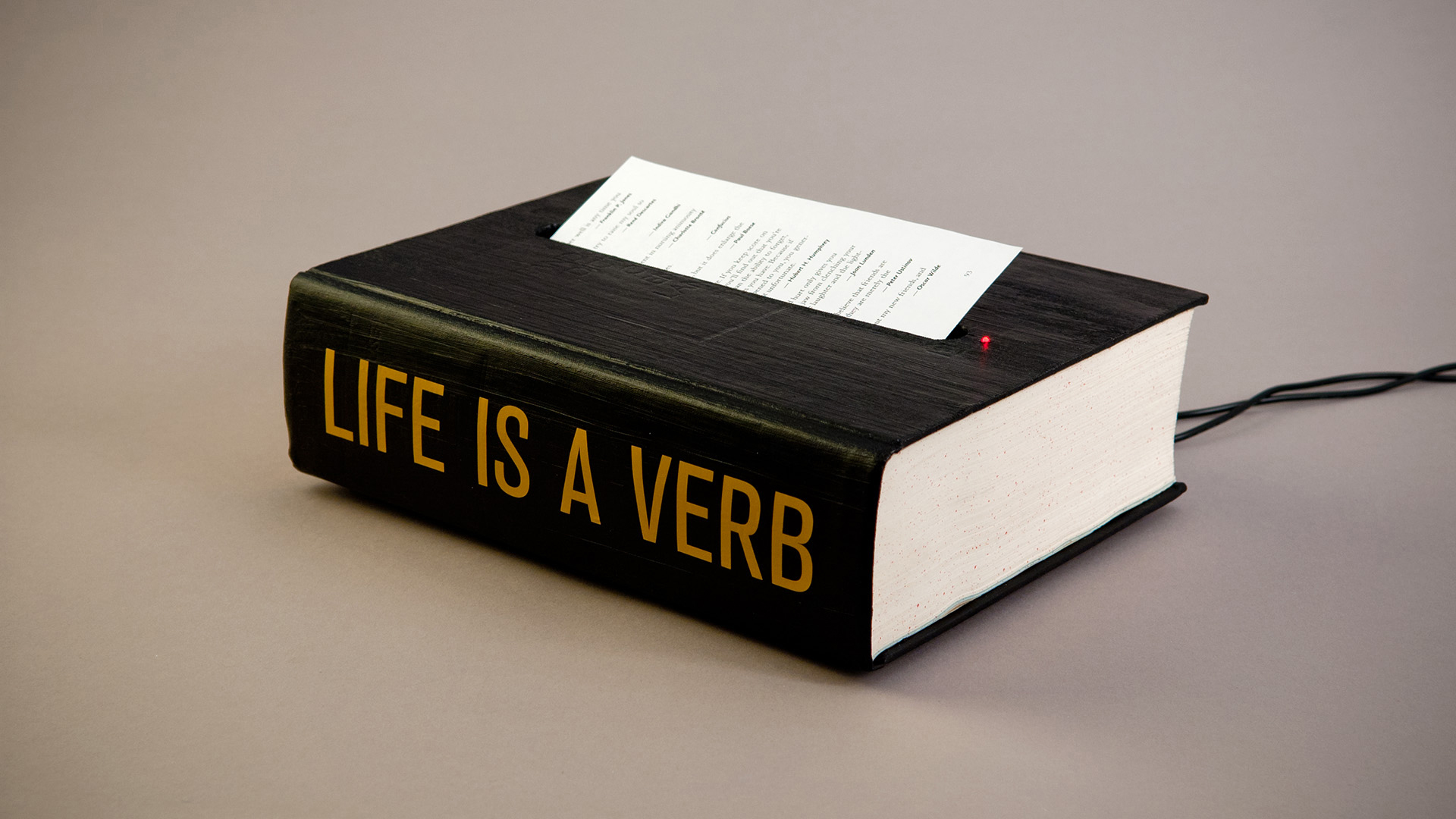 ©2012, Jing Zhou, Life is a Verb: The Book of Spoken Wisdom