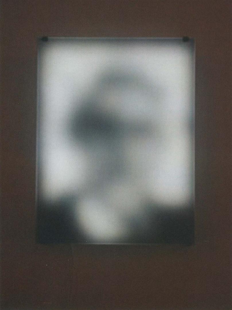 ©2005, Jim Campbell, Portrait of a Portrait of Claude Shannon