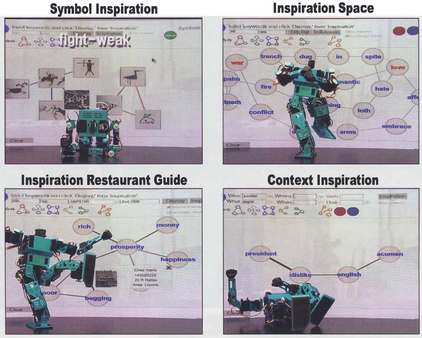 ©2005, Seigow Matsuoka and Naoko Tosa, Inspiration Computing Robot