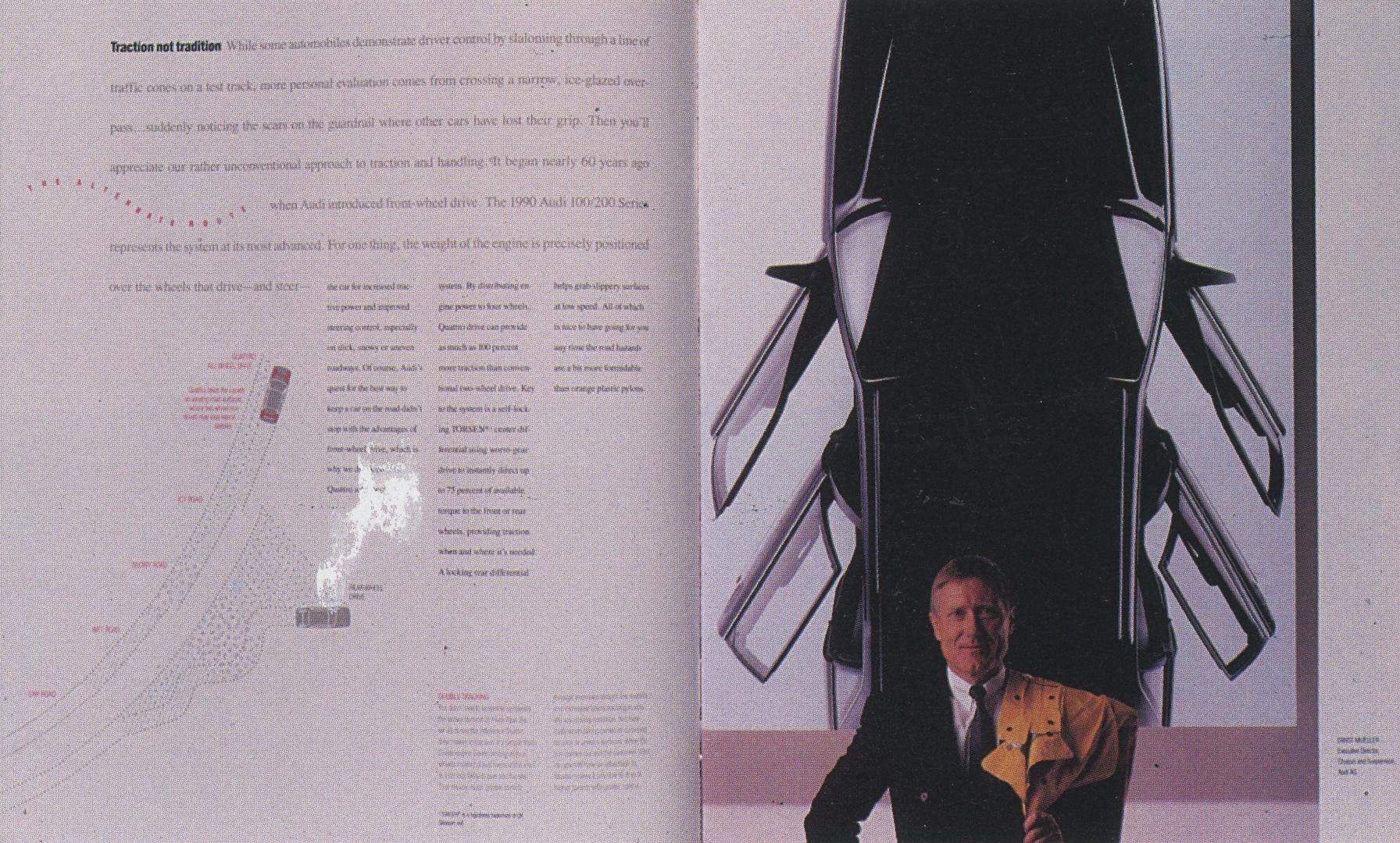 ©1990, SHR Design Communications, Audi 100/200 Brochure