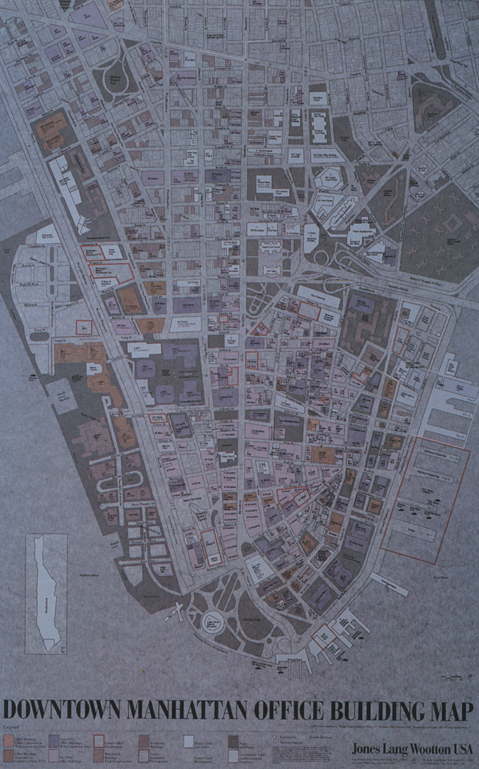 ©, Wiggin Design Inc., Downtown Manhattan Map