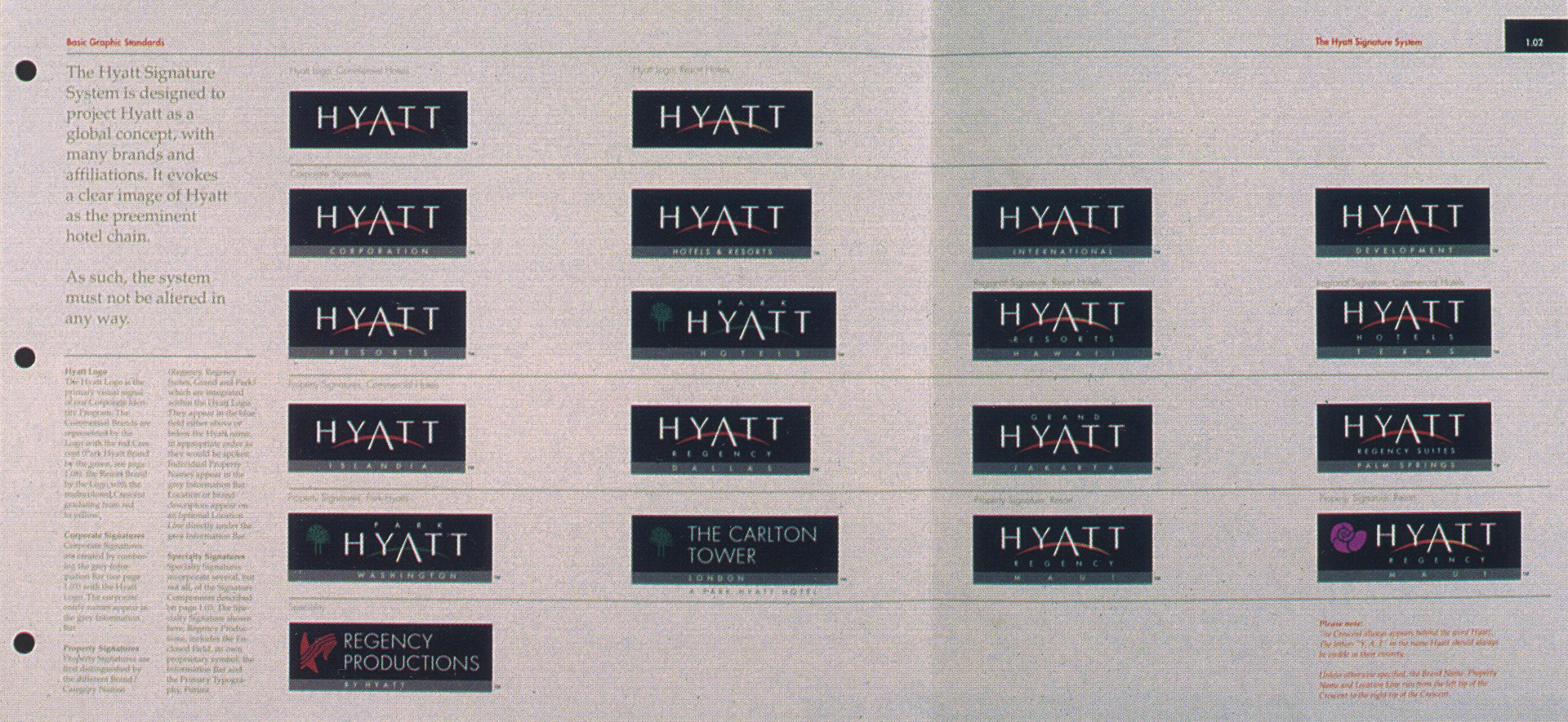 ©, Landor Associates, Hyatt Hotels Corporate Identity Program