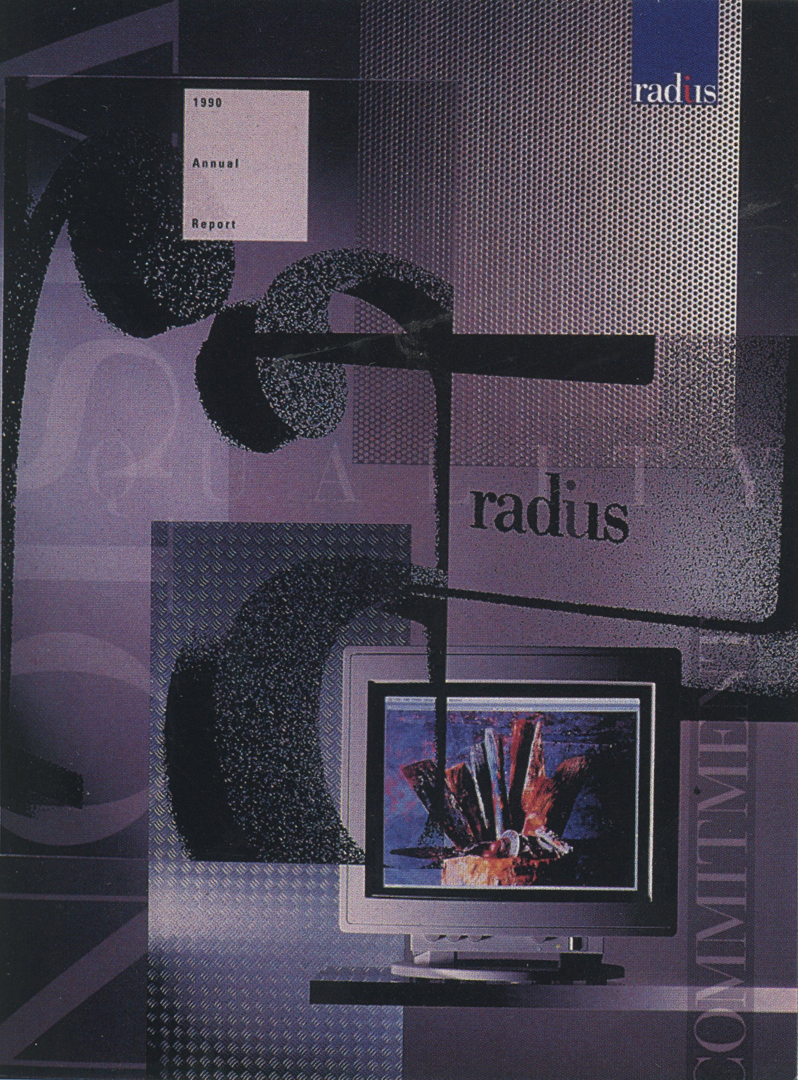 ©, The Design Work, Radius Inc. 1990 Annual Report