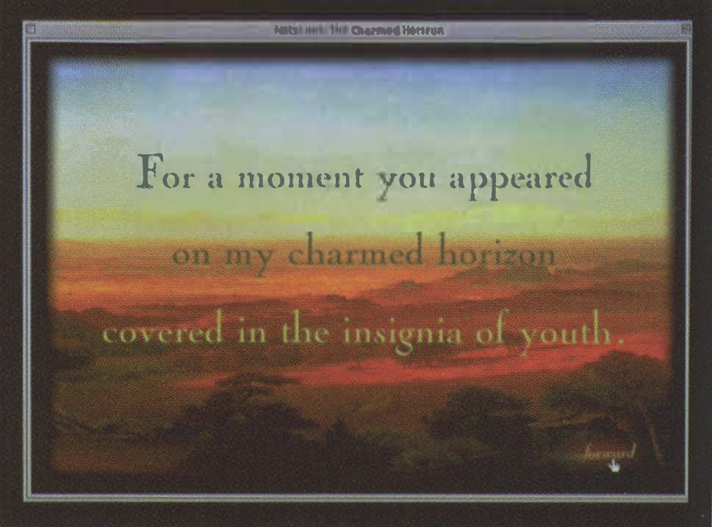 ©1999, Kim Stringfellow, The Charmed Horizon