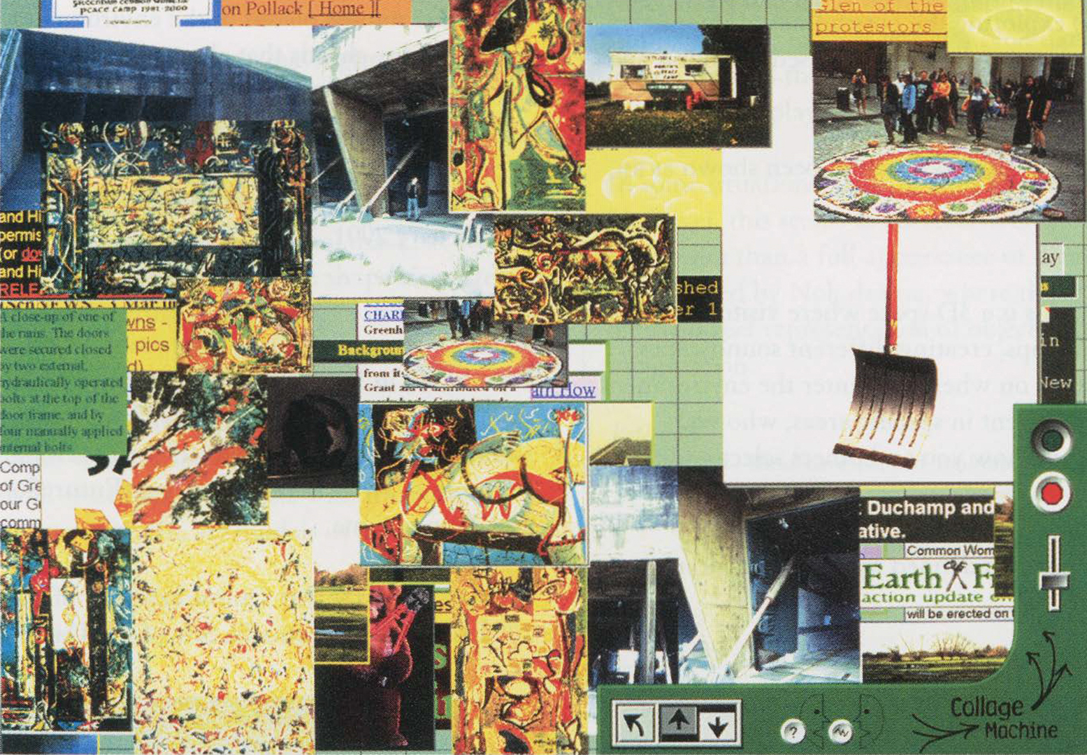 ©2001, Andruid Kerne, Collage Machine