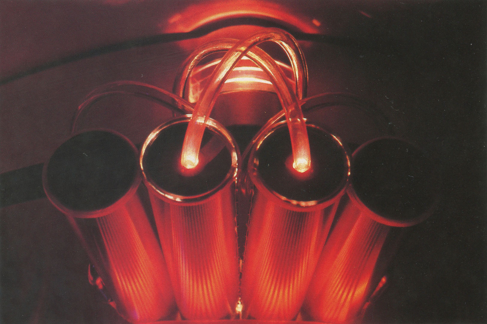 ©1985, Marsha Nygaard, Computer Orchestrated Light, Glass and Metal Sculptures
