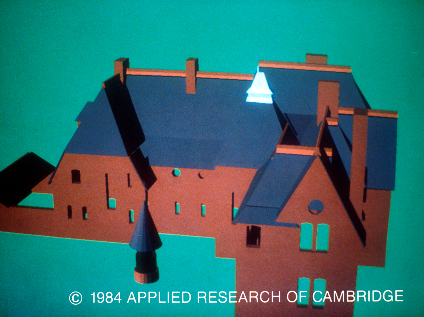 ©, Applied Research of Cambridge, Computer-Generated Image of William Morris' Red House