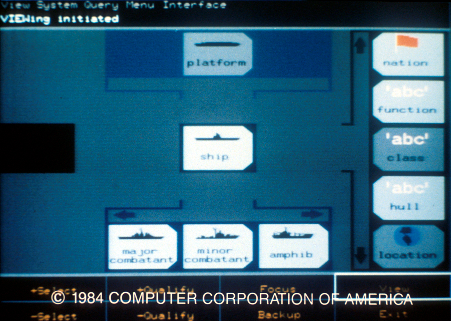 ©, Computer Corporation of America, View System
