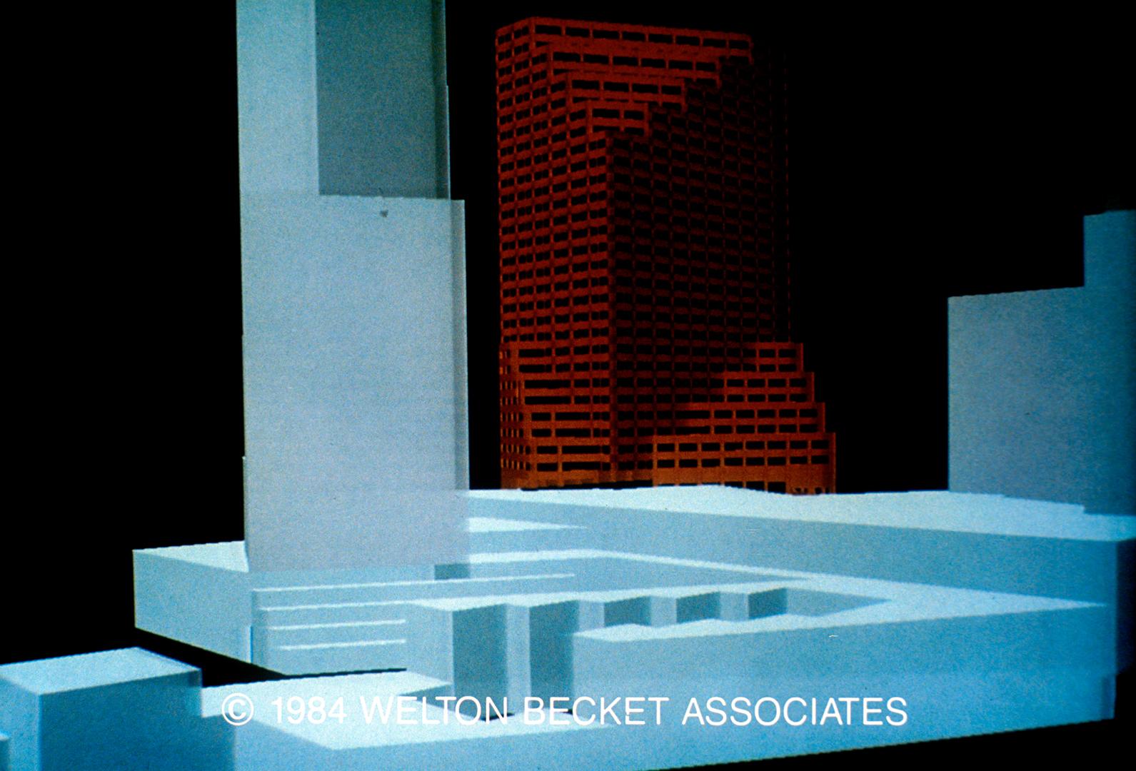 ©, Welton Beckett Associates, Site Massing Study