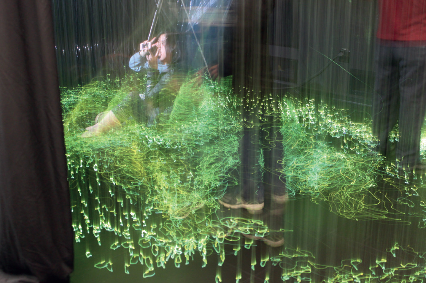 ©, Jinsil Hwaryoung Seo and Greg Corness, Light Strings: Kinesthetic immersive environment