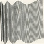 Ninety computer-generated sinusoids with linearly increasing period