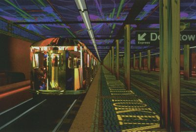 1997 Magenta Token City Subway Wall