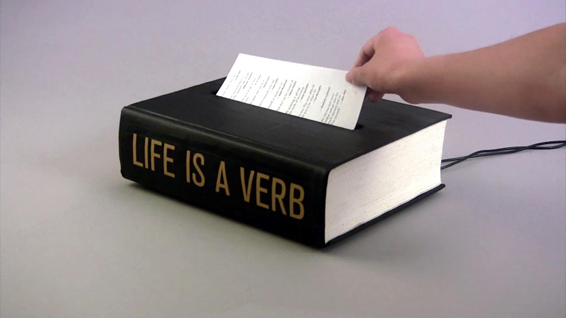 ©2012, Jing Zhou, Life is a Verb: The Book of Spoken Wisdom
