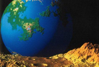 1982 Voss Mandelbrot Fractal Planet Rise