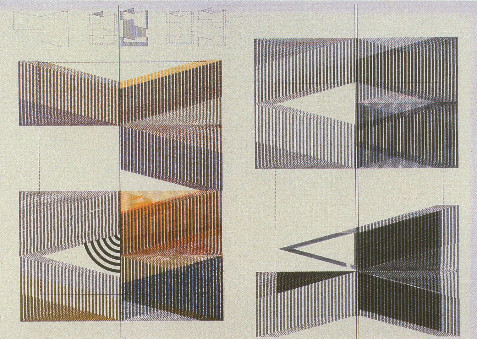 ©1983, Gerald Hushlak, ... or, The Structure of a Building is Sometimes More Beautiful  than the Building