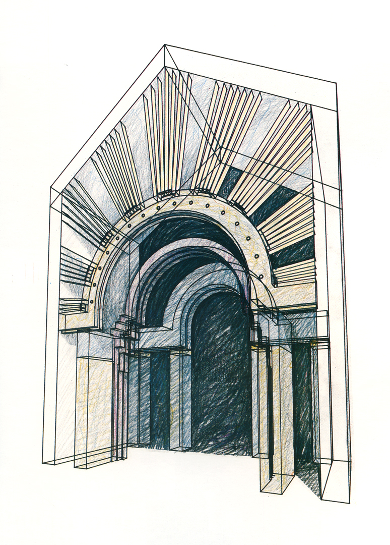 ©, Charles W. Moore, Ralph Knowles, and John Heile, Arched Doorway