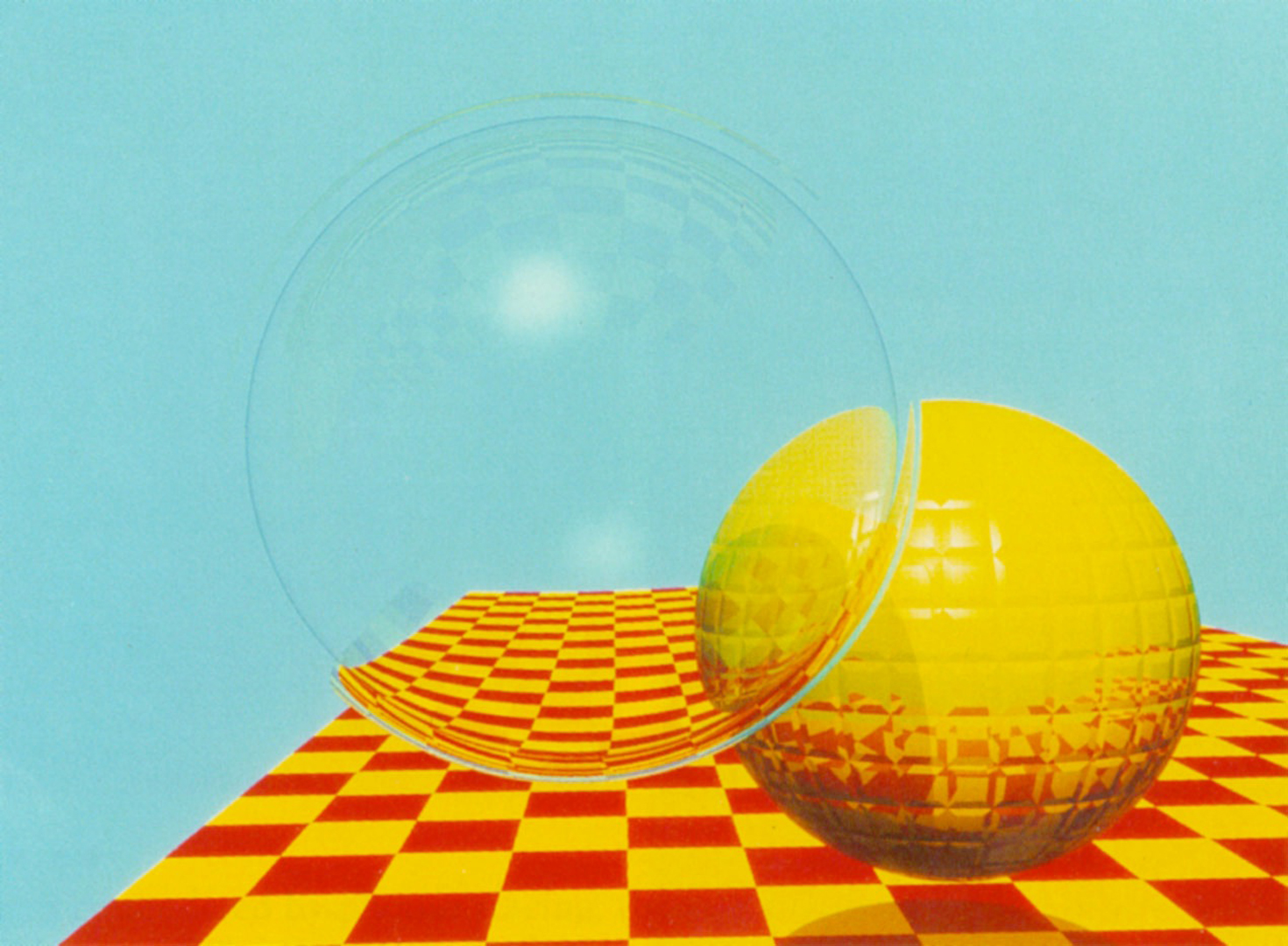 ©1982, Turner Whitted, Untitled (Ray Traced Spheres)