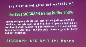 1981 SIGGRAPH frame buffer show