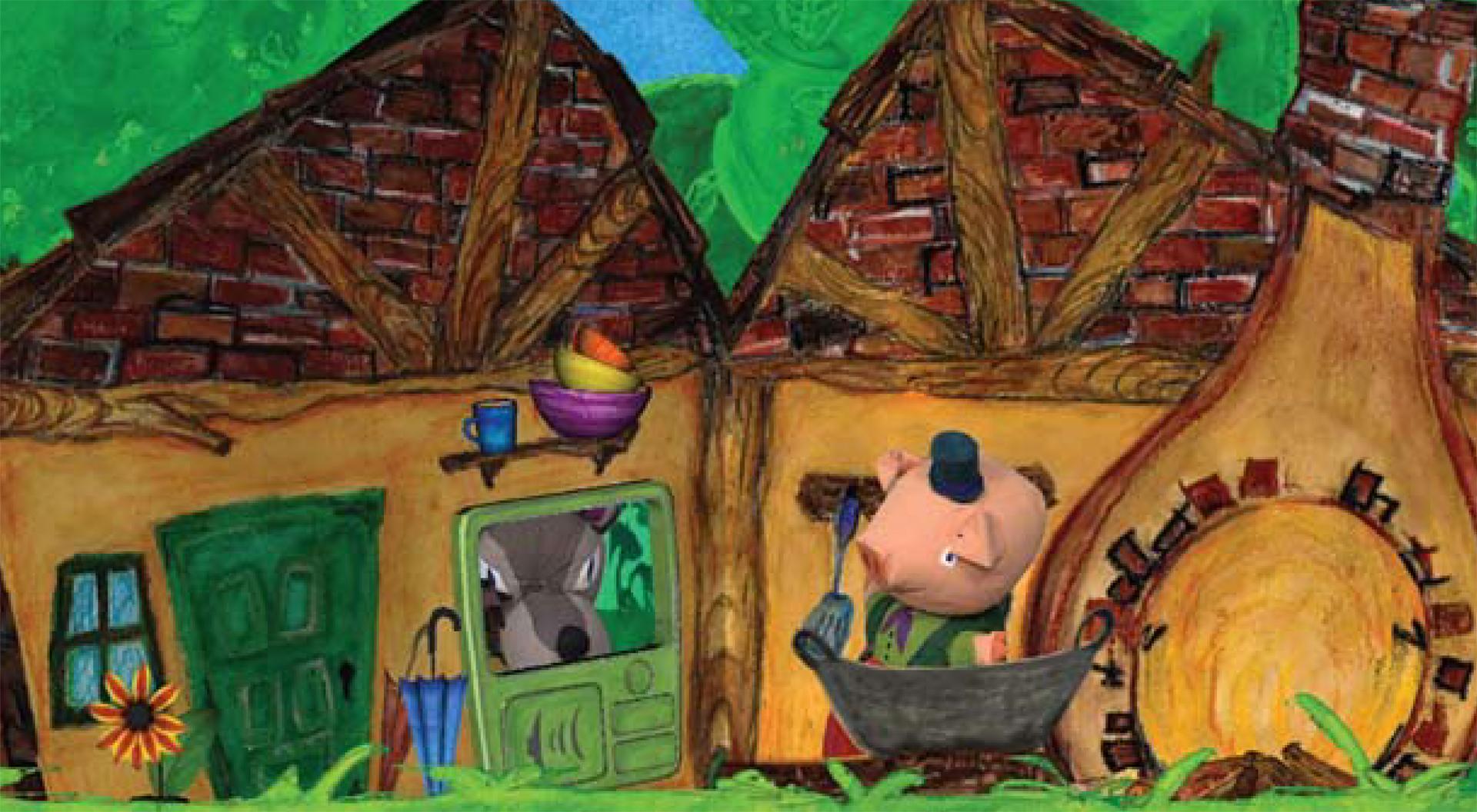 ©, Yuko Yamanouchi, Takashi Fukaya, Hideki Mitsumine, and Hidehiko Okubo, Three Little Pigs in the CG Theater